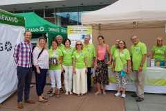August 2018: Aktionstag Organspende auf dem Dresdner Stadtfest CANALETTO
