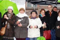 Dezember 2014: Aktionstag Organspende auf dem Schweriner Weihnachtsmarkt