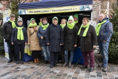 November 2019: Aktionstag Organspende auf dem Schweriner Weihnachtsmarkt